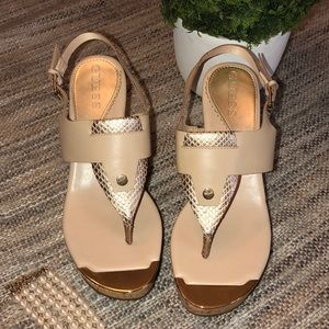 Guess Wedge Sandals Gold